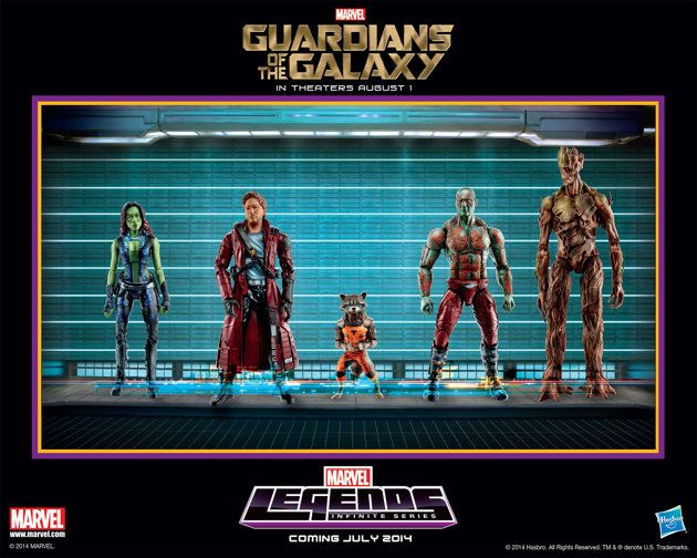 Gardiens de la galaxie - nouvelles figurines