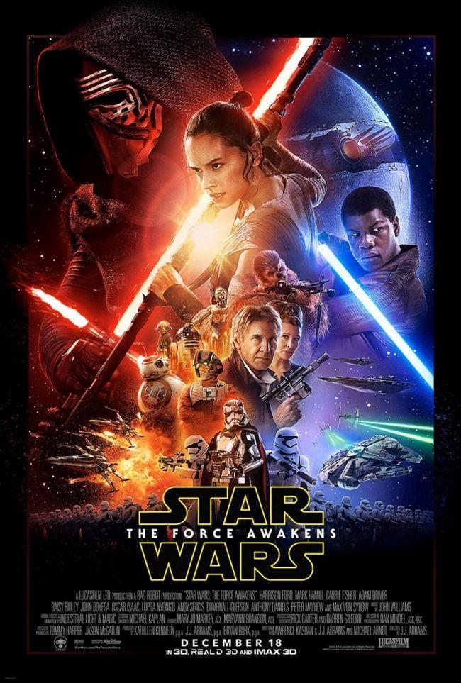 Star wars: la force réveille répartition de l`affiche