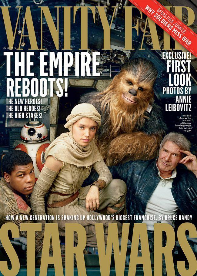 Star wars: la force éveille - vanity fair shooting révèle de nouveaux personnages
